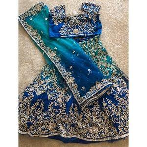 Dresses & Skirts - Indian Leghana Choli Dress- Mermaid Design